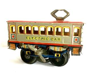Tin Electric Car Wind Up Toy, 1950s