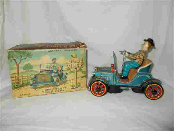 Old Timer Toy Tin Car with Box