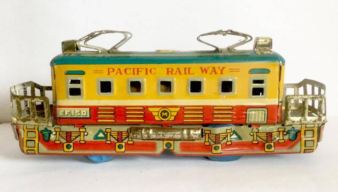 Tin Friction Toy Train Pacific Railway, 1950's
