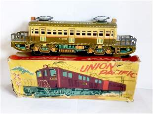 Tin Friction Toy Train Union Pacific, 1950's