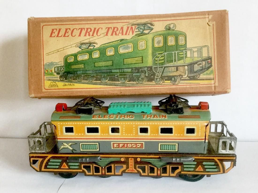 Tin Friction Toy Electric Train, 1950's