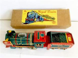 The Royal Train Tin Friction Toy, 1950's