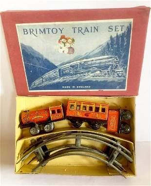 Tin Wind Up Toy Train Set in Original Box