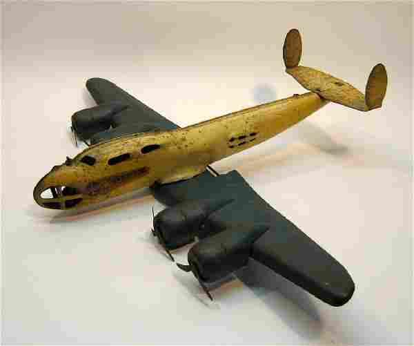 Buddy L Pressed Steel Toy Airplane, 1930s