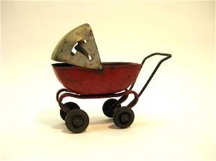 Wyandotte Pressed Steel Baby Carriage, 1930s