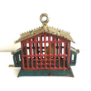 Tin Birdcage Penny Toy, Late 19th Century