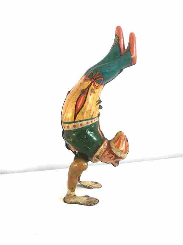 Tin Circus Clown Wind Up Toy, Late 19th Century