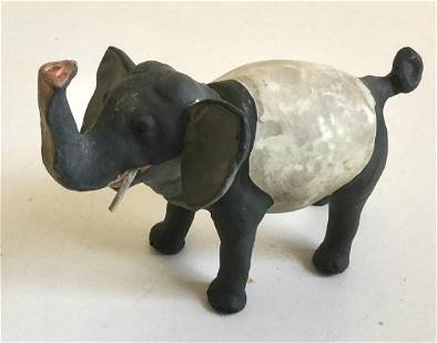 Rare Antique German Elephant Candy Container, 1890