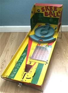 Vintage Tin Litho Marx Skee Ball Game