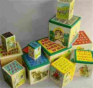 Set of 12 Victorian Nesting Blocks
