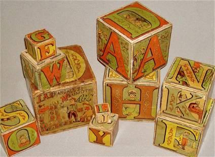 19th c. Crandall Nesting Blocks Patented 1881