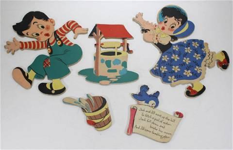 Comlete Set of 5 Jack and Jill Pinups, 1949