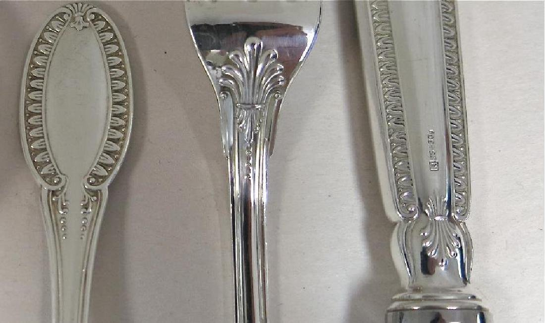 Empire Pattern, Sterling Silver Flatware Set For 12. - 2