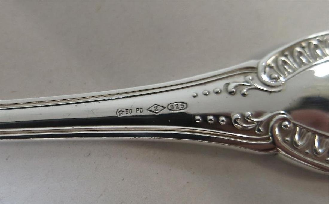 Empire Pattern, Sterling Silver Flatware Set For 12. - 7