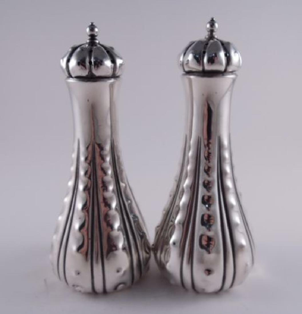 Tiffany Dominick & Haff Sterling Pair Large Salt &