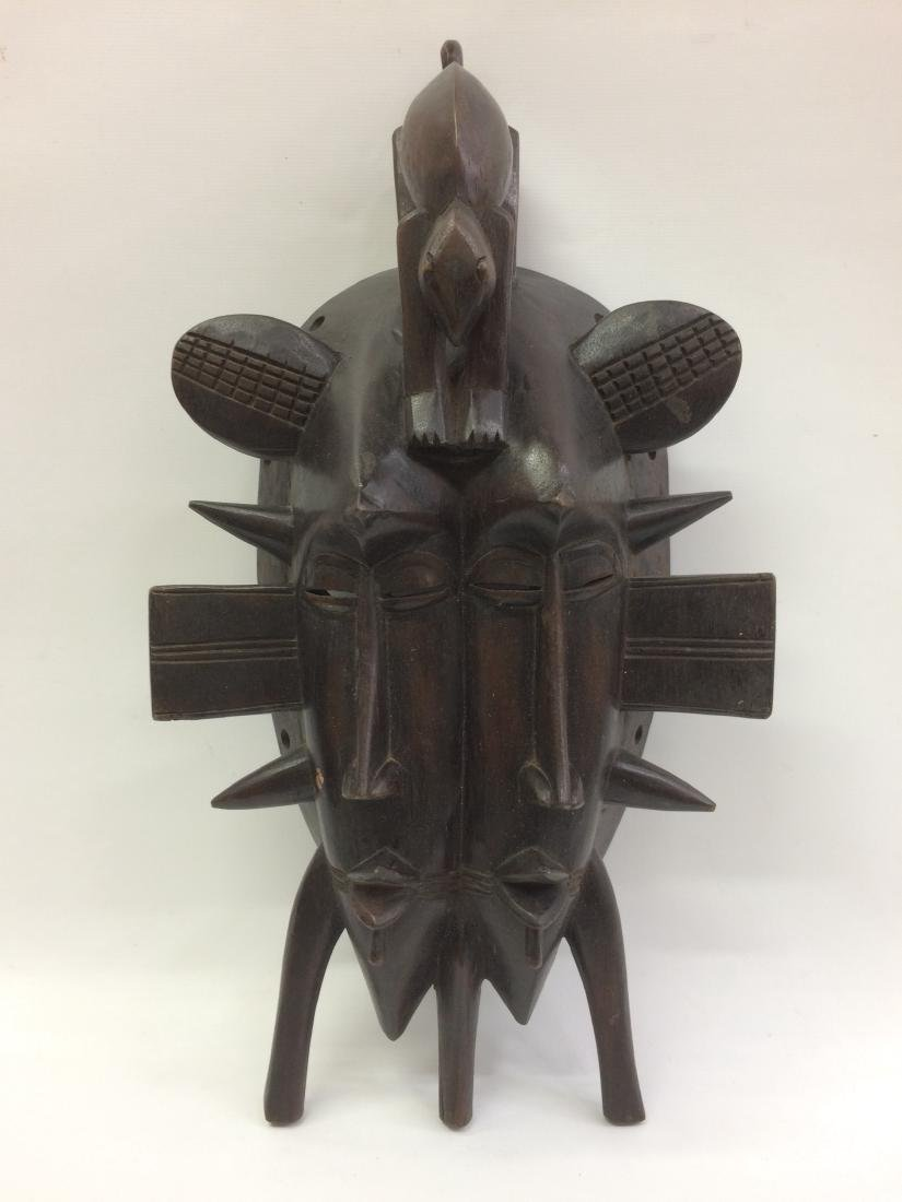 Senufo Double Face Mask from Ivory Caost