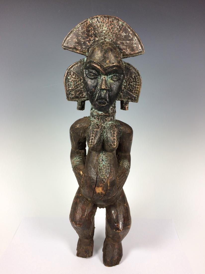 Female Bakota Reliquary Guardian Statue from Gabon