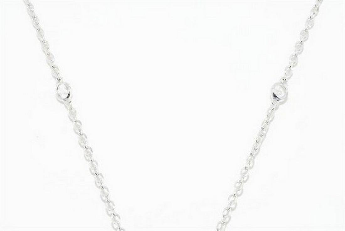75.80ct Natural White Topaz & Quartz Dangle Necklace - 3