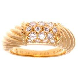 Van Cleef & Arpels 18K Gold Diamond Phillipine Ring