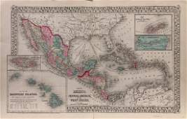 Mitchell: Mexico, Central America, & West Indies Map