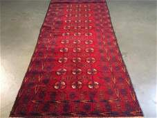 Fine Authentic Hand Knotted Afghan Rug 30x66