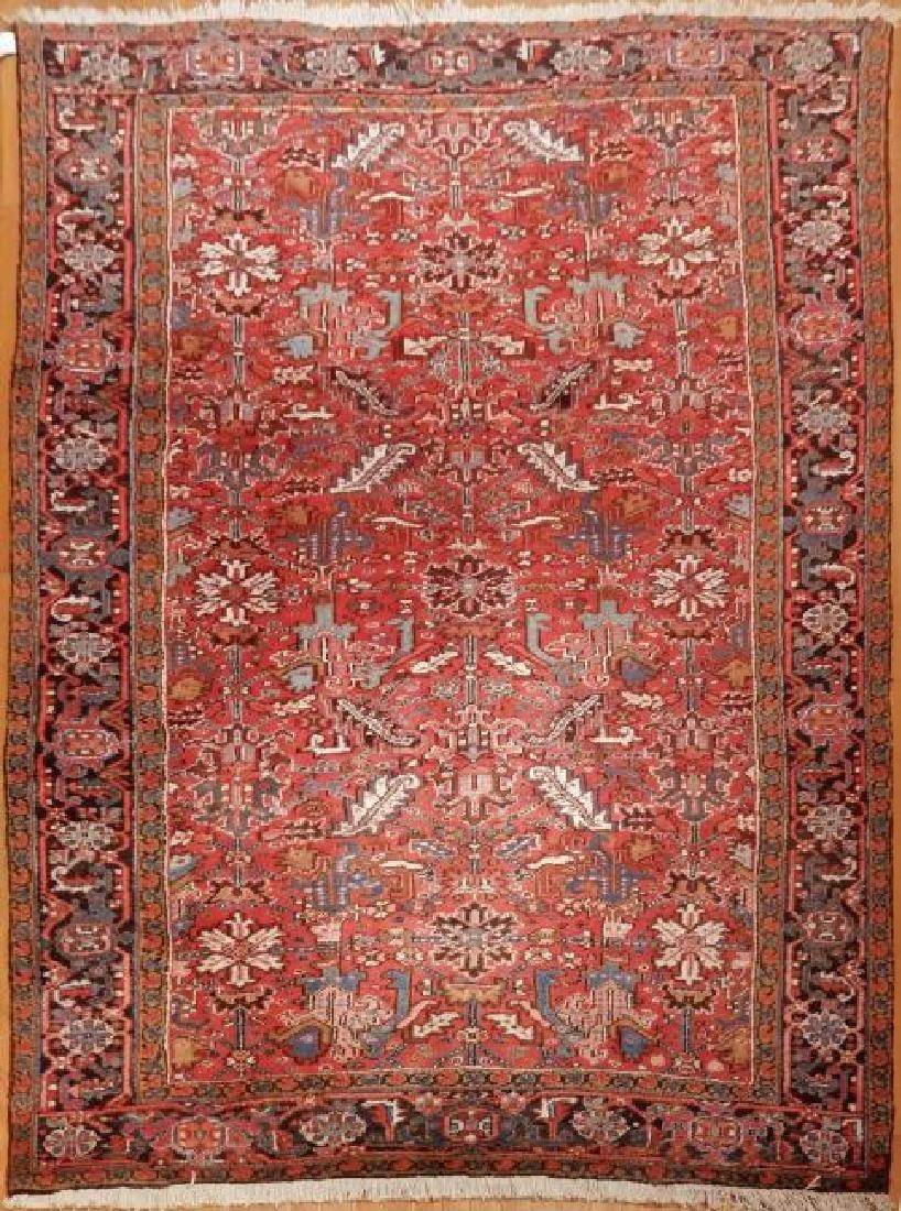 Antique Persian Heriz Rug 8.4x11.7