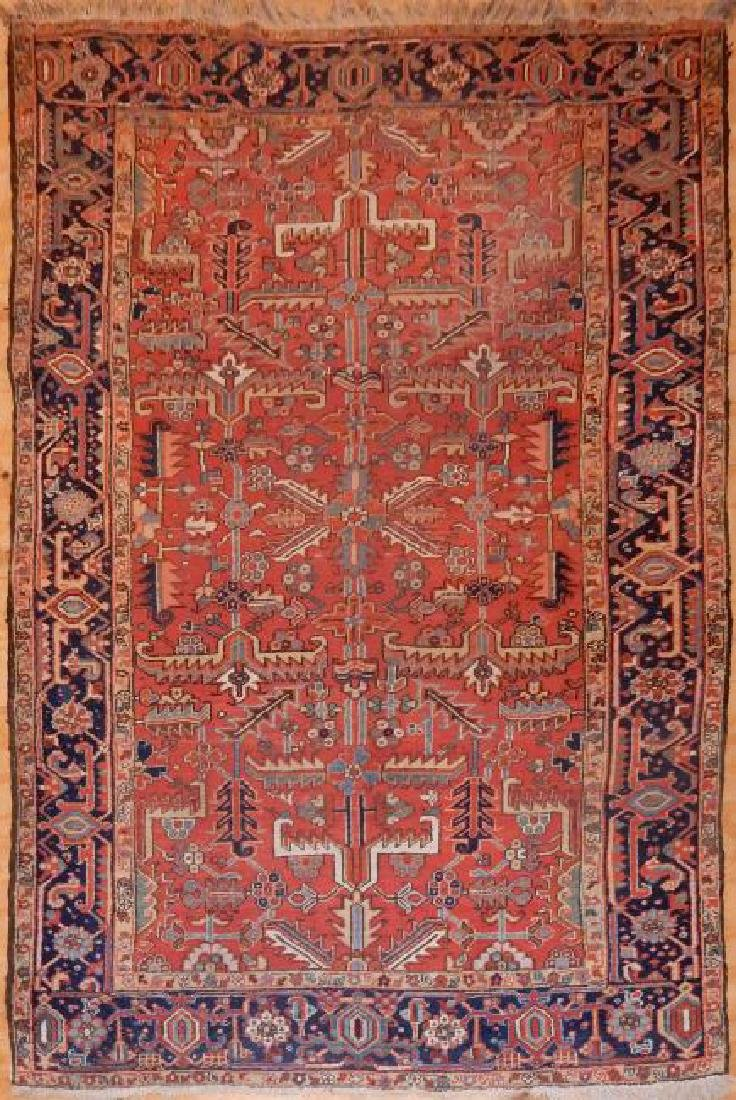 Antique Persian Heriz Rug 8.2x11.4