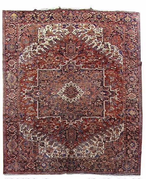 Persian Heriz Georavan Handmade Rug 11x14