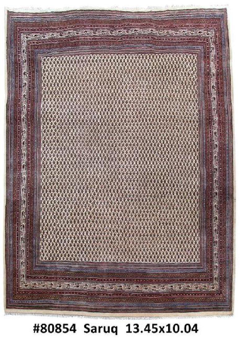 10x13 Handmade Persian Sarouk Rug