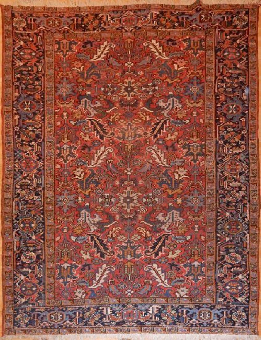 Antique Persian Heriz Rug 7.0x10.0