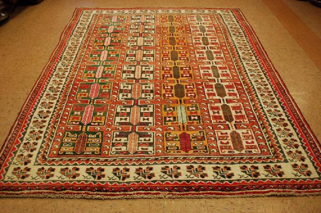 Antique Persian Sjiraz Qashkai Panel Rug 6.10x9.4