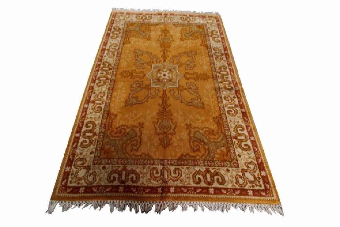 Vintage Oushak Rug Decorative Wool Carpet 6'x9' C.1950