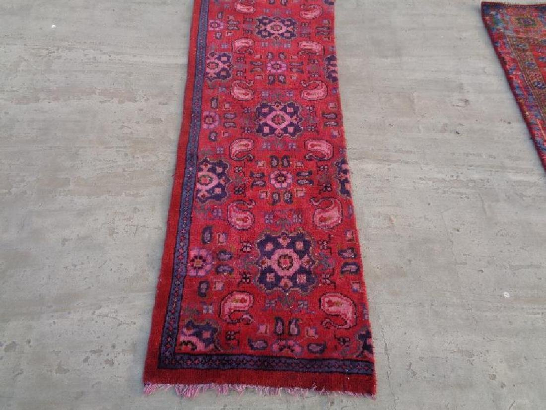 Semi Antique Wool Persian Hamadan Rug 4.10x1.8