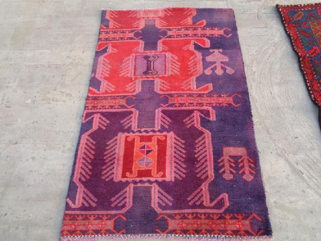 Semi Antique Wool Persian Saveh Rug 3.6x2.3
