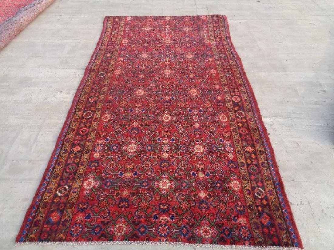 Semi Antique Wool Persian Kharossan Rug 6.8x3.10