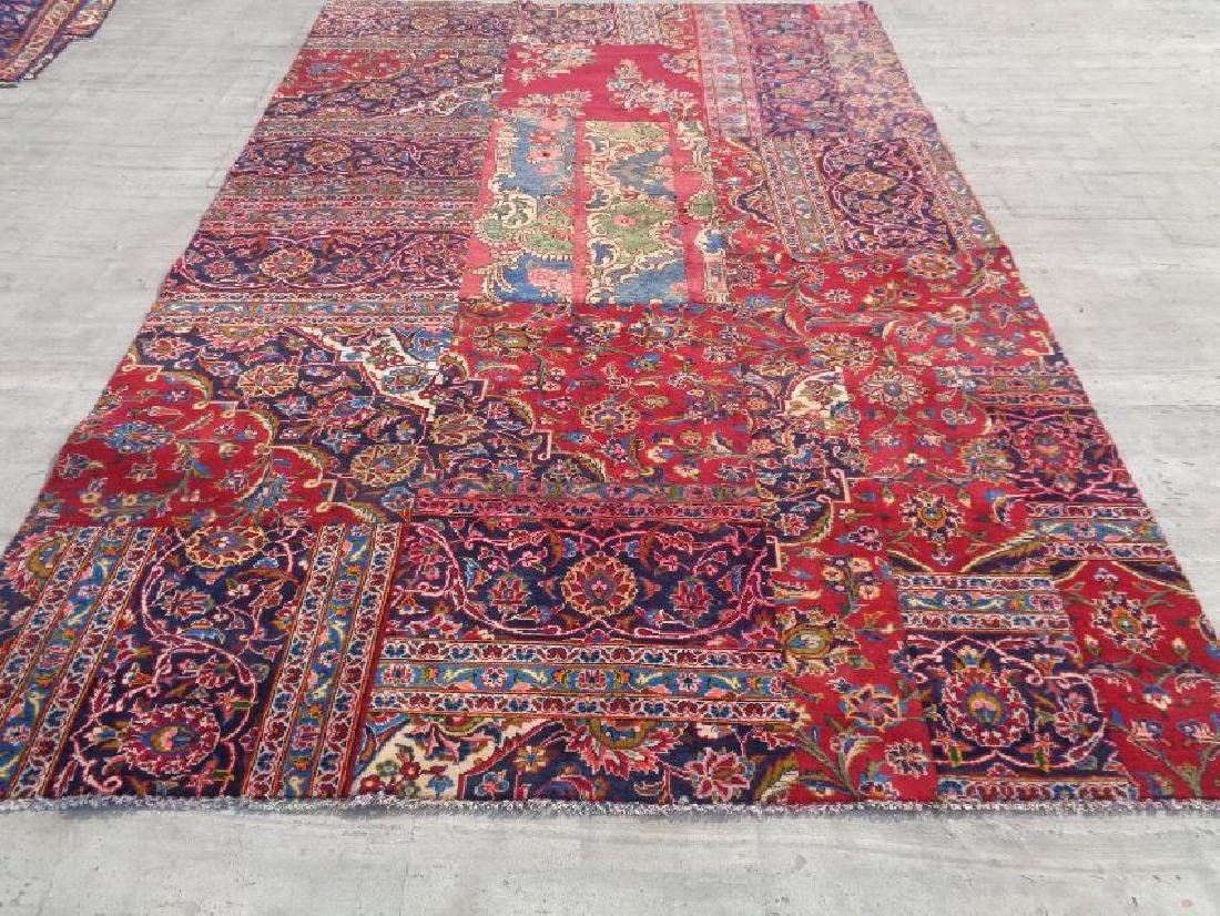 Hand Knotted Semi Antique Persian Wool Rug 9.5x6