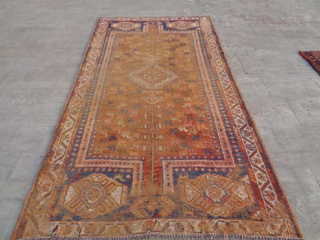 Semi Antique Wool Persian Shiraz Rug 9x4.8