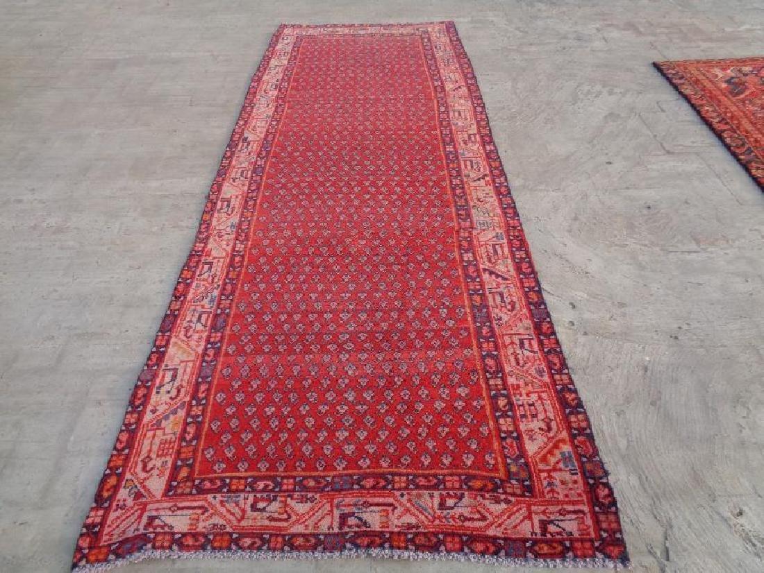 Semi Antique Wool Persian Sarouk Rug 9.9x3.6