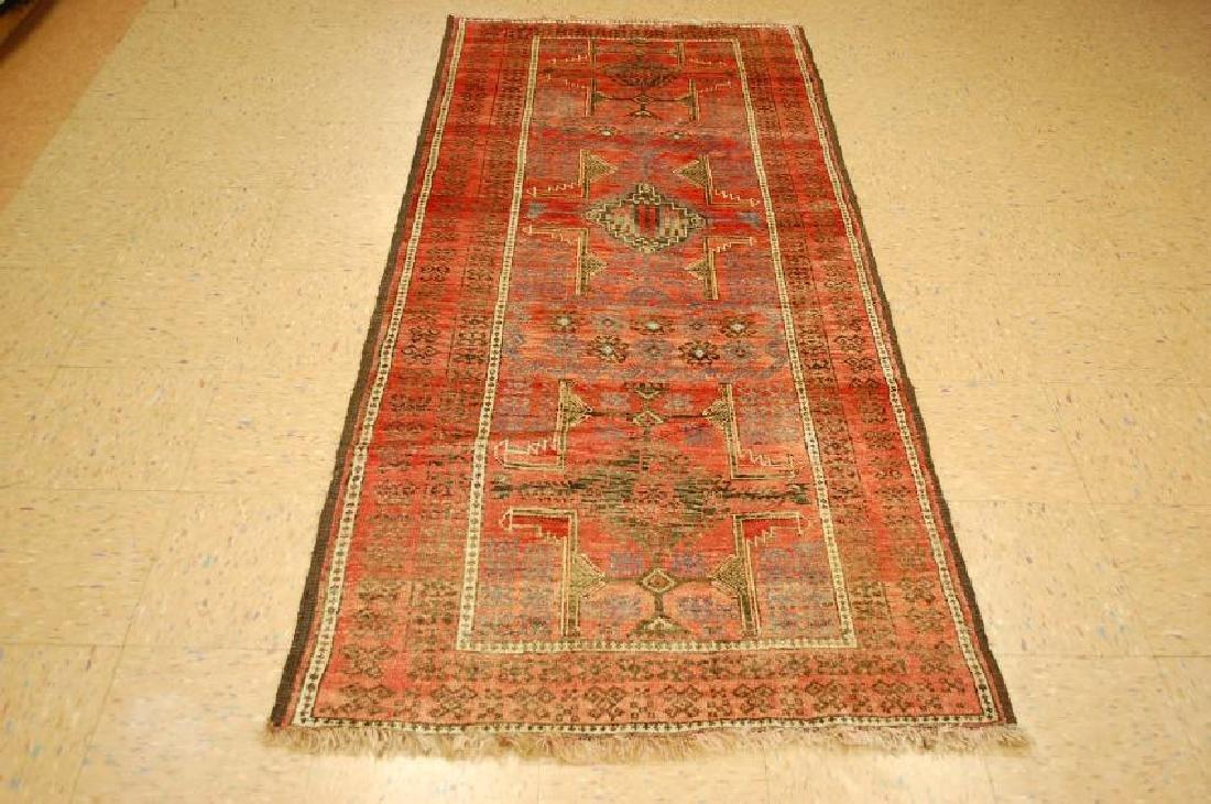 Antique Wool Persian Balouchi Rug 3.4x7.5