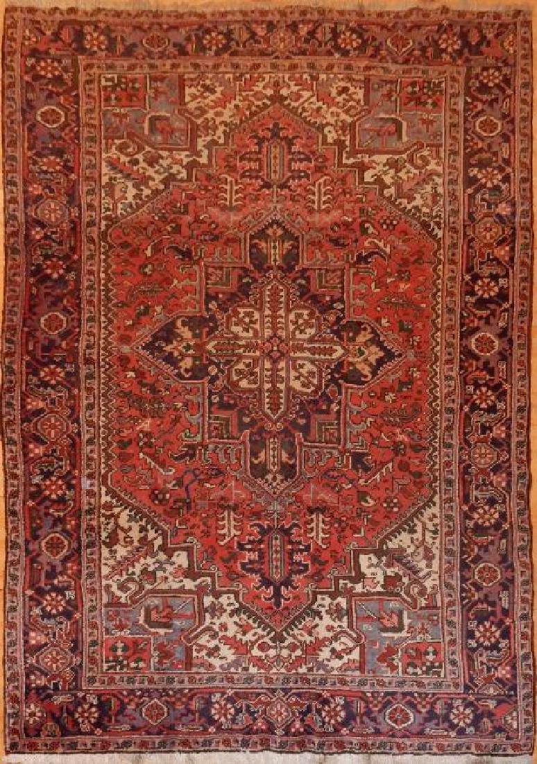 Antique Persian Heriz Rug 6.7x9.8