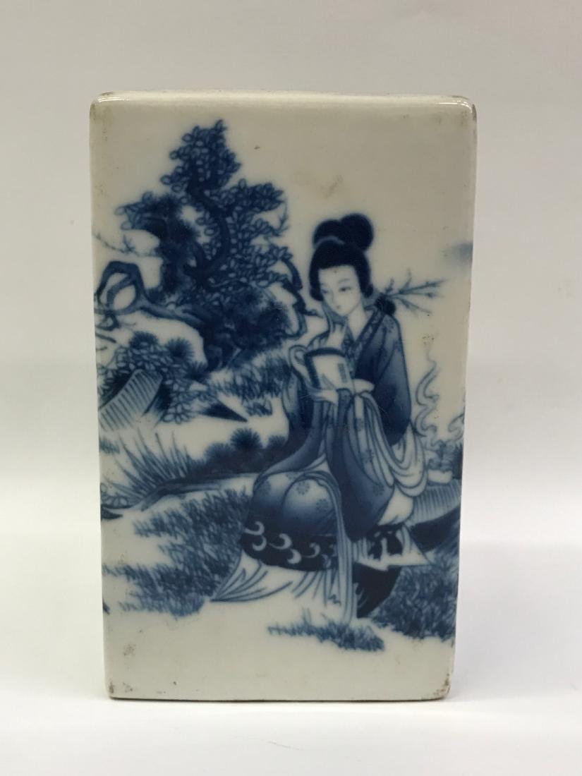 Chinese Qing Dynasty Porcelain Blue & White Pen Holder