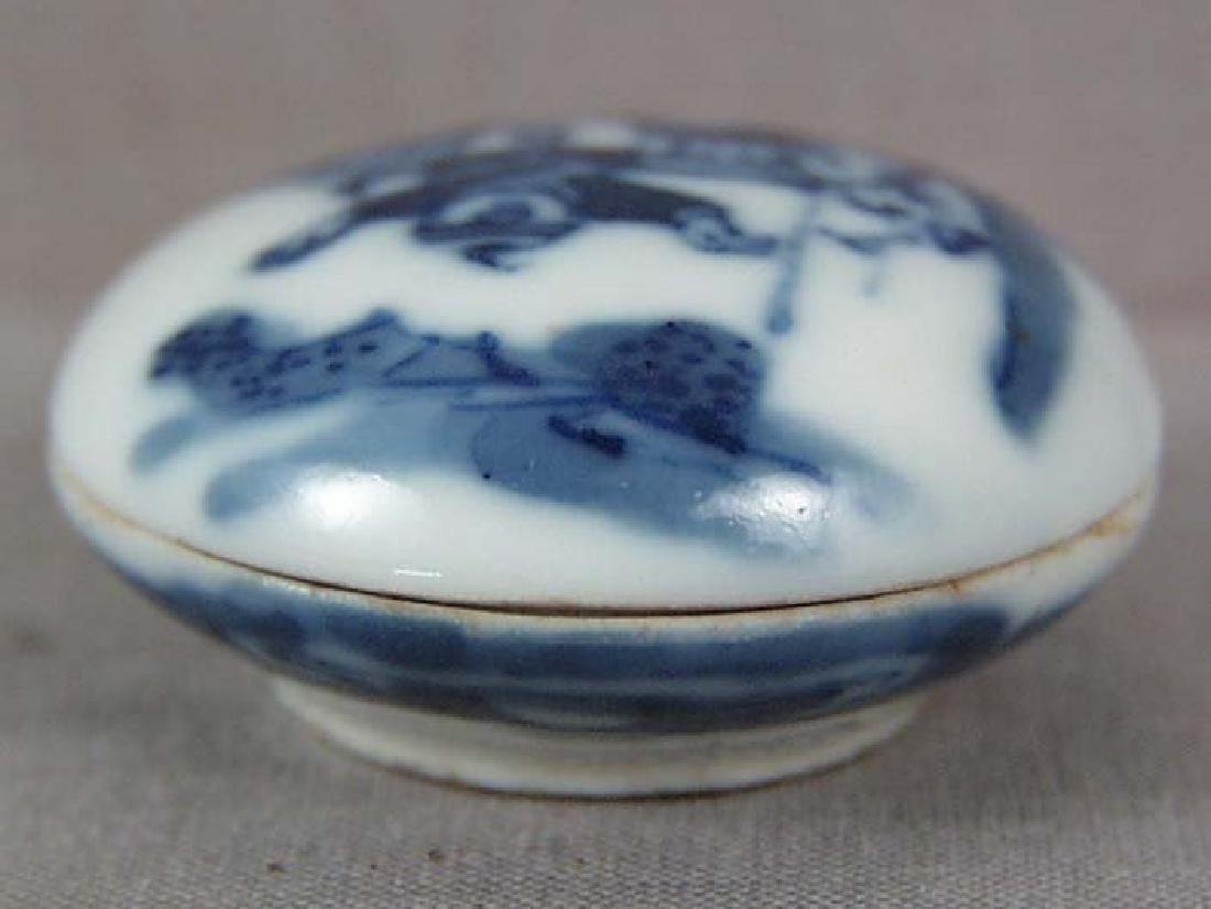 Chinese Scholar's Porcelain Box Kangxi Mark, 19th C