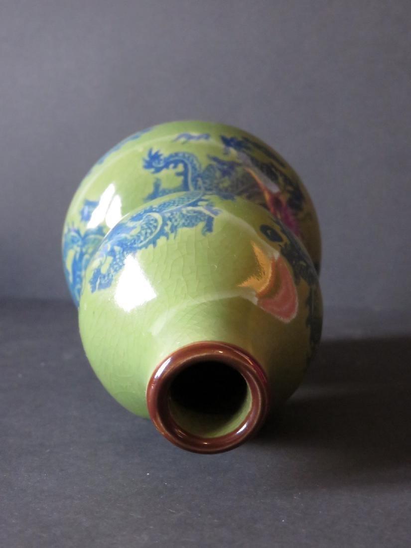 Chinese Glazed Porcelain Double Gourd Vase - 3
