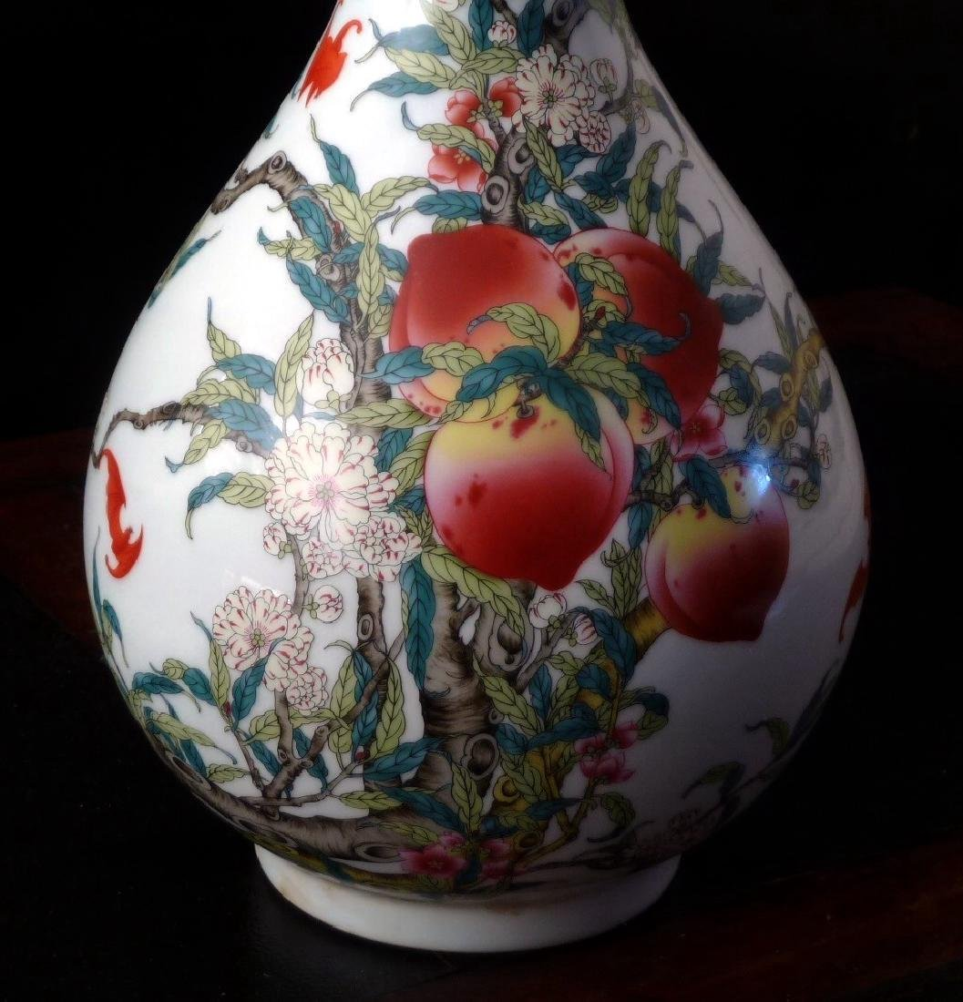 Qing Period Famille Rose Vase, Chien Lung Mark, 18th C - 2