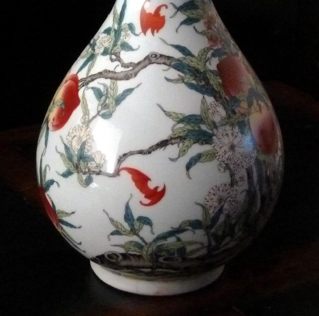 Qing Period Famille Rose Vase, Chien Lung Mark, 18th C - 3