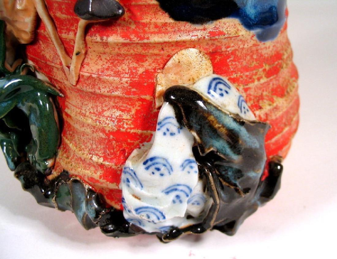 Japanese Sumida Gawa Humidor / Lidded Jar - 5