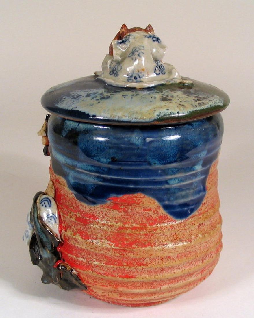 Japanese Sumida Gawa Humidor / Lidded Jar - 7