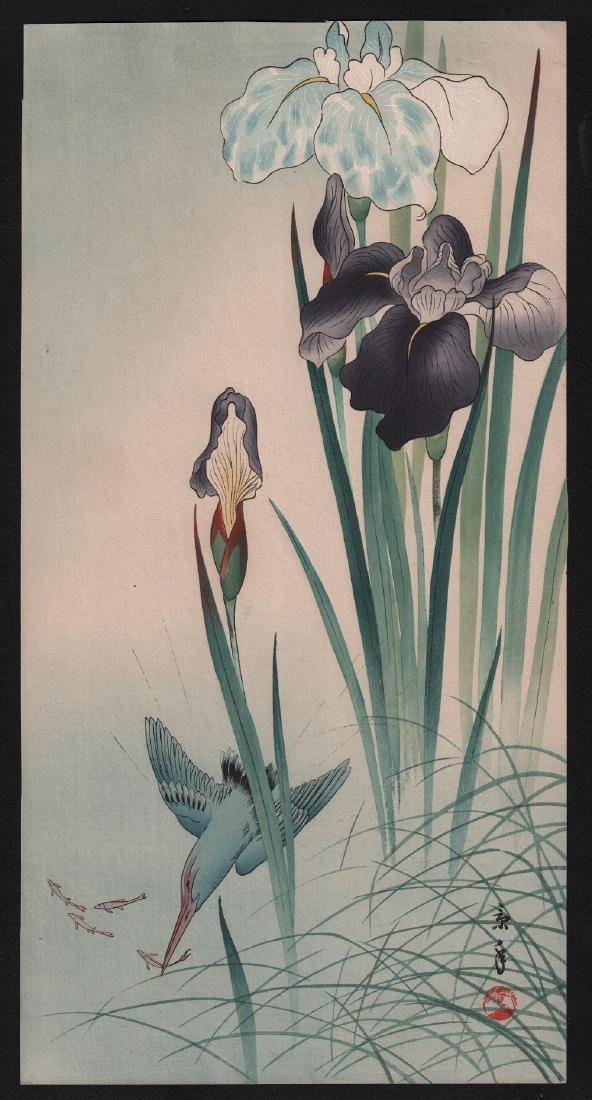 Imao Keinen: Kingfisher & Iris