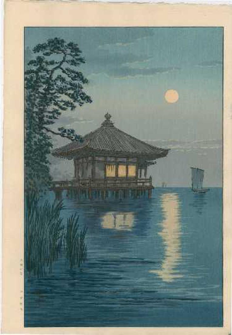 Ito Yuhan: Ukimido at Katada, Biwa+Bonus Print