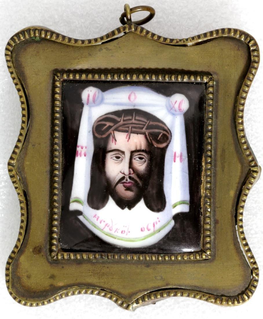 Christ Mandylion Russian Finfit Icon, 19th C